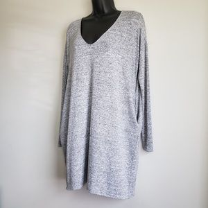 Wilfred Free Vneck Heather Gray Dress